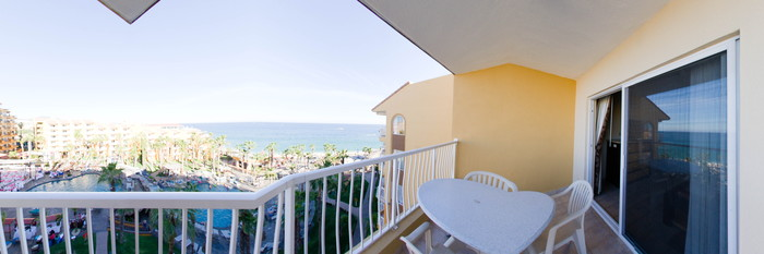 Panorama of the Junior Villa Suite at the Villa Del Palmar Beach Resort & Spa