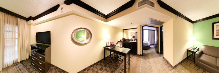 Panorama of the King Bed Suite at the Crowne Plaza Suites Houston - Near Sugar Land