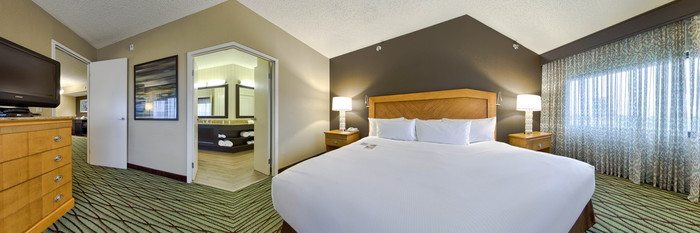 Panorama of the King Executive Suite with Sofabed at the DoubleTree Suites by Hilton Orlando - Disney Springs Area