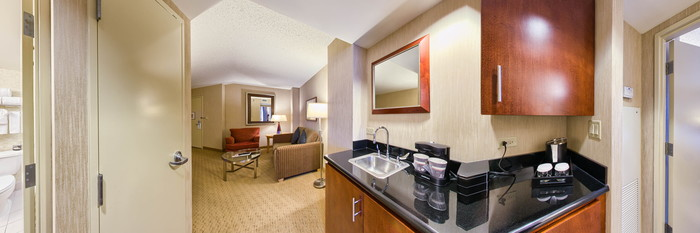Panorama of the King Suite at the Embassy Suites Hotel Washington, DC -Convention Center