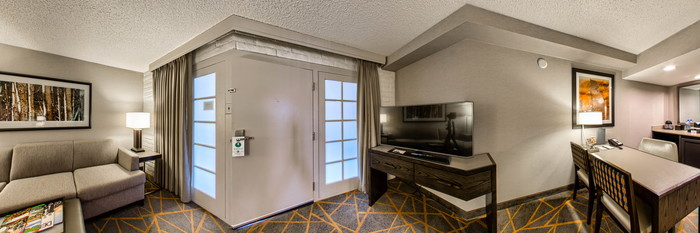 Panorama of the King Suite at the Embassy Suites by Hilton Denver Southeast