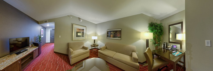 Panorama of the King Suite at the Mohegan Sun Pocono