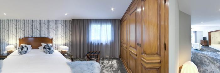 Panorama of the Les Capucines Suite at Hostellerie La Cheneaudiere & Spa - Relais & Chateaux