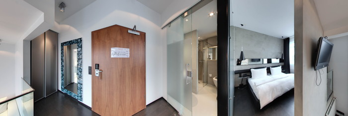 Panorama of the Loft Suite at the CenterHotel Thingholt