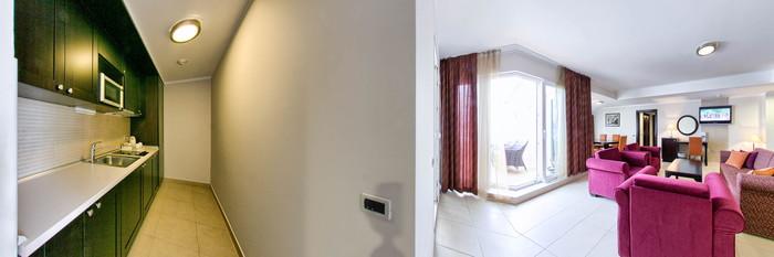 Panorama of the Luxury apartment sea view at the Atrium Residence Baska
