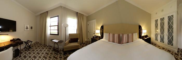 Panorama of the Luxury Cloister Estate Room at the Boca Raton Resort, A Waldorf Astoria Resort