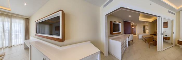 Panorama of the Luxury Family Suite at the Royalton Negril