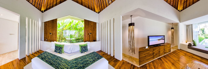 Panorama of the Luxury Ocean View Pool Villa at the Candi Beach Resort & Spa