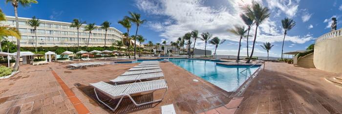 Panorama of the Main Pool at the El Conquistador Resort, A Waldorf Astoria Resort
