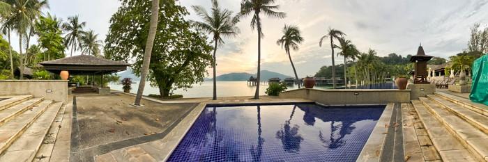 Panorama of the Main Pool at the Pangkor Laut Resort