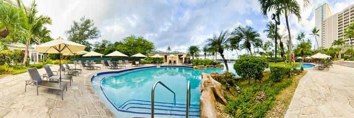 Panorama of the Main Pool at the Hyatt Regency Guam