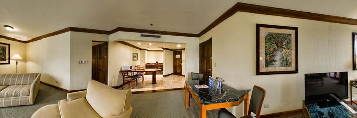 Panorama of the Master Suite at the Wyndham San Jose Herradura Hotel & Convention Center