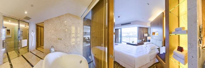 Panorama of the Ocean Suite at the Sheraton Dameisha Resort