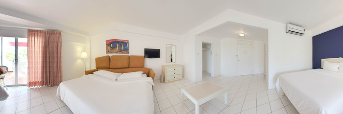 Panorama of the Oceanview Double Room (Converted) at the Royal Decameron Montego Beach Resort