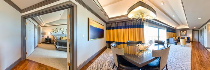 Panorama of the Omni Suite at the Omni Interlocken Hotel