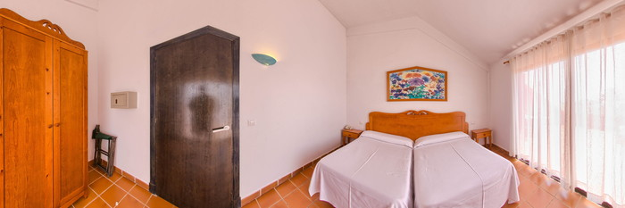 Panorama of the One Bedroom Apartment at the Nuramar Apartments