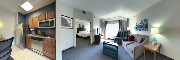 Panorama of the One Bedroom King Suite at the Homewood Suites by Hilton New Orleans