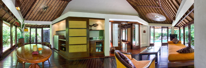 Panorama of the One Bedroom Pool Villa Hoffhann at The Pavilions Bali