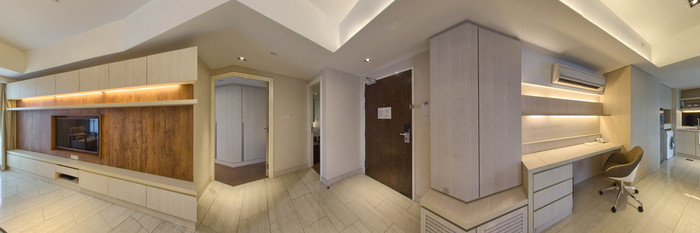 Panorama of the One Bedroom Premier Suite at the Oasia Suites Kuala Lumpur by Far East Hospitality