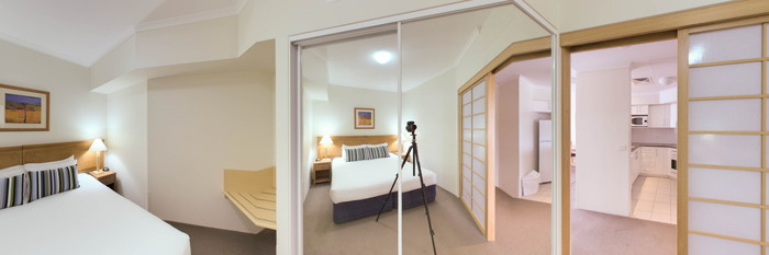 Panorama of the One Bedroom Side Waterview Apartment at the Ramada Resort Shoal Bay