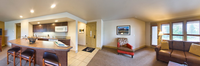 Panorama of the One Bedroom Standard at the WorldMark Bend - Seventh Mountain Resort