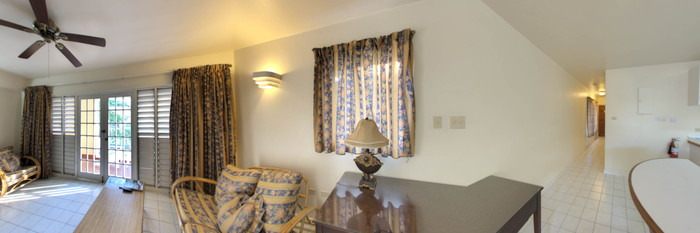 Panorama of the One Bedroom Suite at the El Greco Resort
