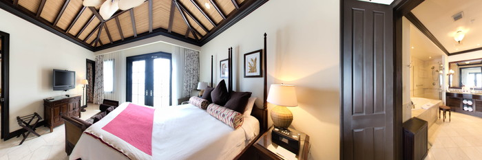 Panorama of the One Bedroom Suite at the Scrub Island Resort, Spa & Marina, Autograph Collection