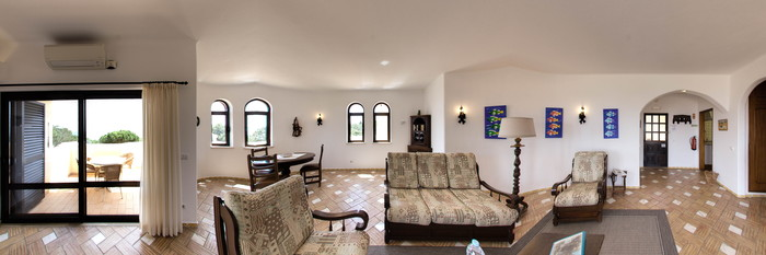 Panorama of the One-Bedroom Suite at the Algar Seco Parque