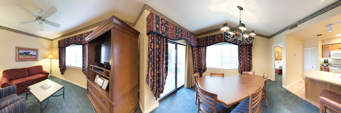 Panorama of the One Bedroom Suite at the Legacy Golf Resort