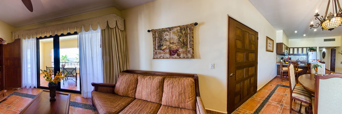 Panorama of the One Bedroom Suite at the Hacienda Encantada Resort & Spa
