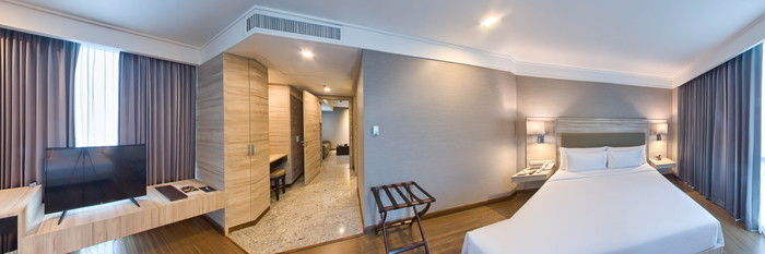 Panorama of the One-Bedroom Suite at the Adelphi Suites Bangkok