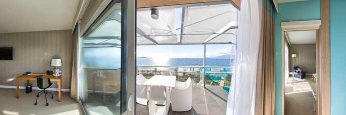 Panorama of the One Bedroom Suite at the Radisson Blu Resort & Spa, Ajaccio Bay