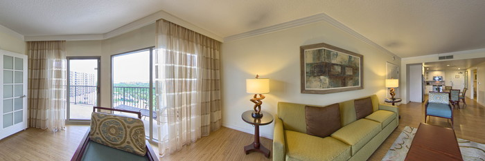 Panorama of the One-Bedroom Suite at the Parc Soleil by Hilton Grand Vacations