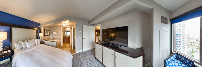 Panorama of the One-Bedroom Suite at the Hilton Grand Vacations on the Boulevard