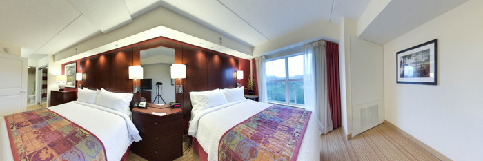 Panorama of the One Bedroom Suite at the Residence Inn Amelia Island
