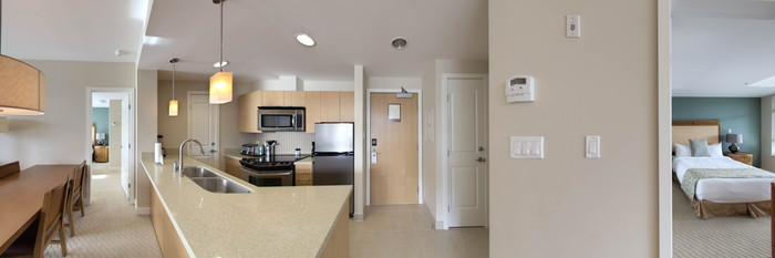 Panorama of the One Bedroom Suite at the Watermark Beach Resort