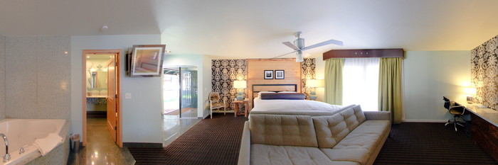 Panorama of the One Bedroom Suite with Jacuzzi and Terrace at the 3 Peaks Resort and Beach Club