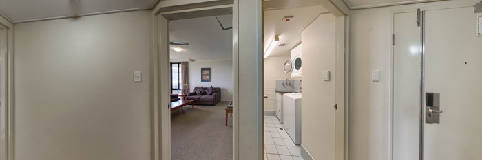 Panorama of the One Bedroom Tower Apartment at the Rydges Esplanade Resort Cairns