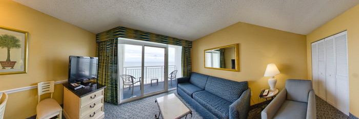 Panorama of the One-Bedroom Two Queens at the Camelot by the Sea, Oceana Resorts