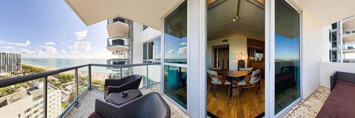 Panorama of the One Bedroom with Ocean View at The Setai
