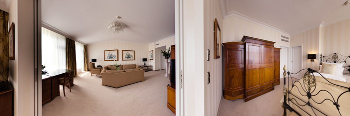 Panorama of the Opera Suite at the Althoff Hotel Am Schlossgarten