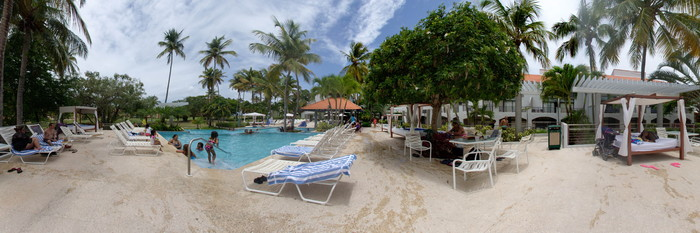 Panorama of the Outdoor Pool at the Wyndham Candelero Beach Resort