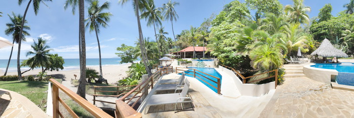 Panorama of the Outdoor Pools at the Tango Mar Beachfront Boutique Hotel & Villas