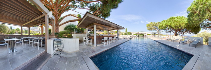 Panorama of the Outdoor Swimming Pool at the La Villa