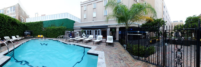 Panorama of the Pool at the W New Orleans - French Quarter
