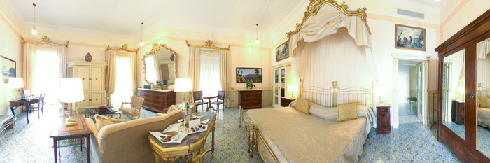 Panorama of the Pavarotti Suite at the Grand Hotel Excelsior Vittoria