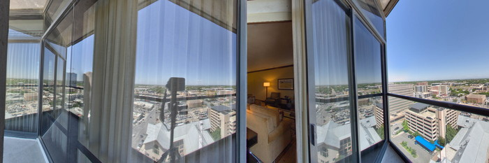Panorama of the Penthouse Suite at the Omni Austin Hotel Downtown
