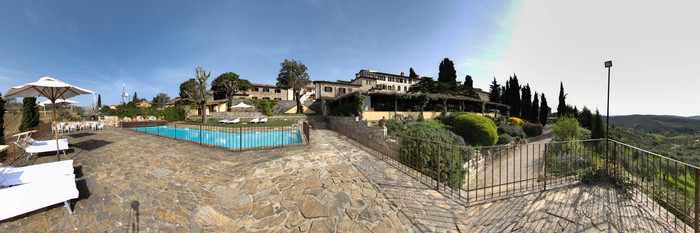 Panorama of the Pool at the Relais Vignale