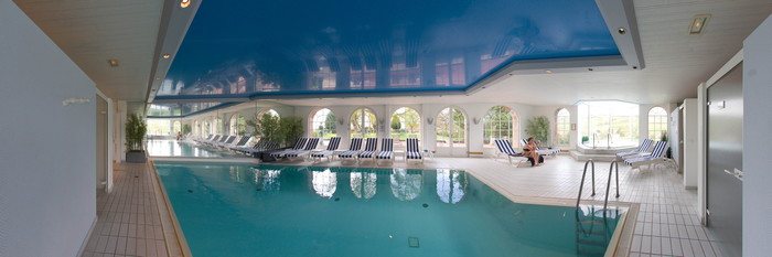 Panorama of the Pool at the Chateau d'Isenbourg