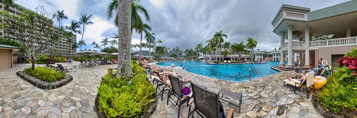 Panorama of the Pool at the Kauai Marriott Resort